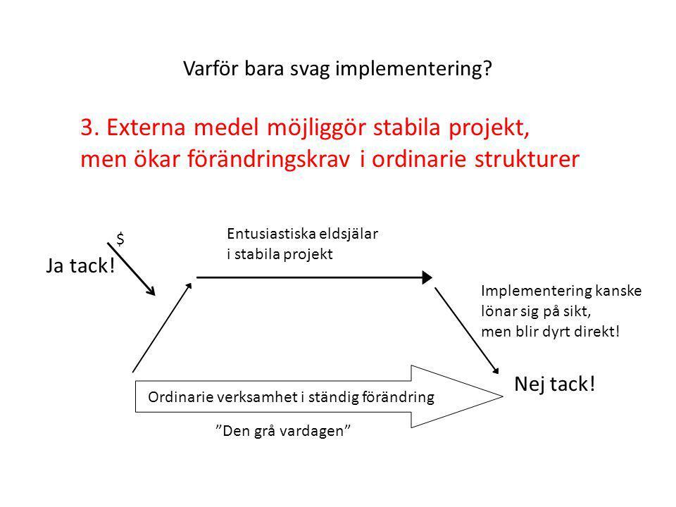 Varför bara svag implementering.