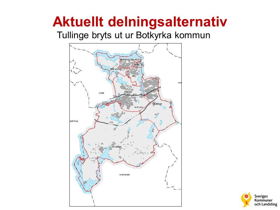 Aktuellt delningsalternativ Tullinge bryts ut ur Botkyrka kommun