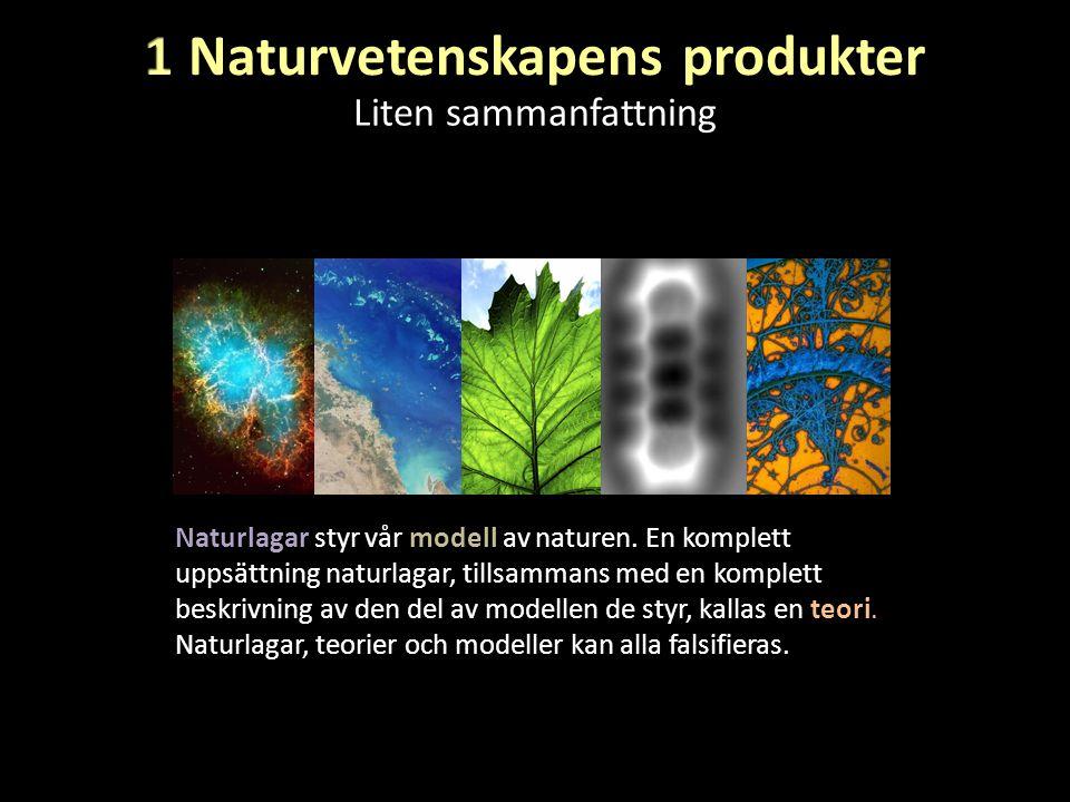 Liten sammanfattning Naturlagar styr vår modell av naturen. En komplett uppsättning naturlagar, tillsammans med en komplett beskrivning av den del av