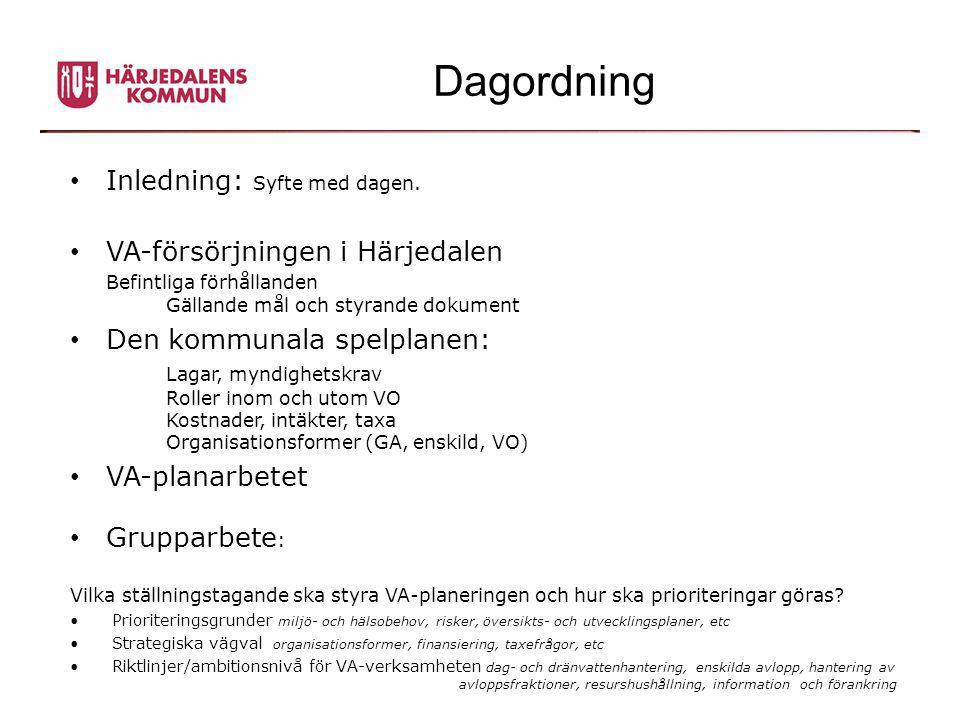 Planprocessen Varför en Vatten- och avloppsplan.