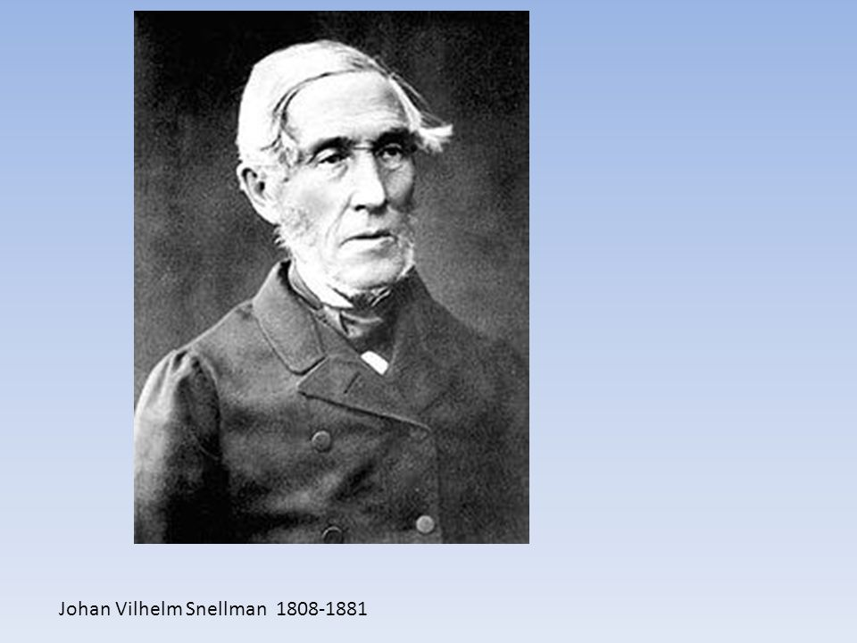 Johan Vilhelm Snellman 1808-1881