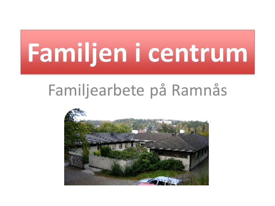 Familjen i centrum 1.Omdefiniera uppdraget i interpersonella termer - Uppdragsgivare: socialsekreterare & enhetschef - Föräldrar - Övriga intressenter: skola, professionellt nätverk