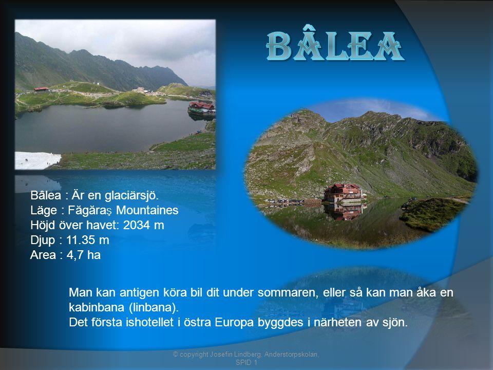 Bâlea : Är en glaciärsjö.