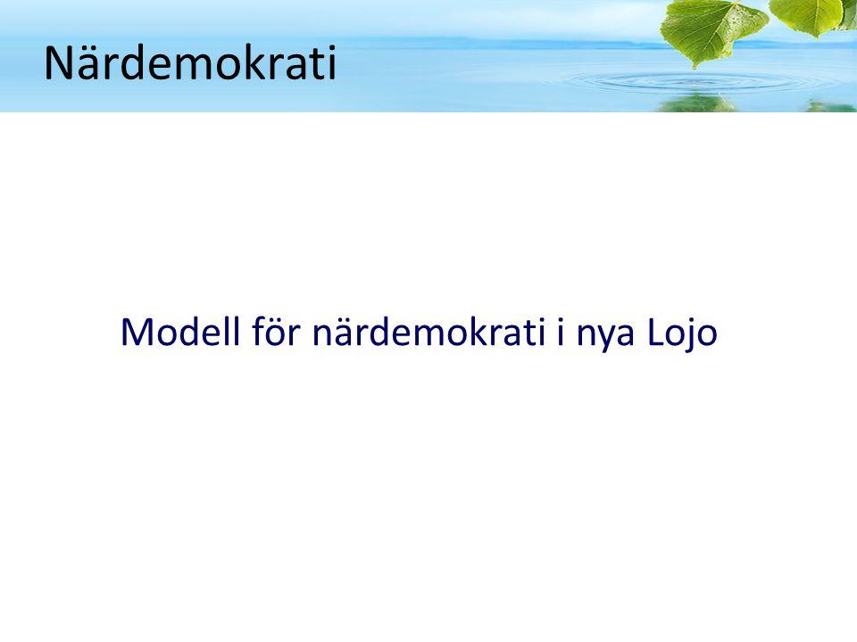 Närdemokrati Modell för närdemokrati i nya Lojo