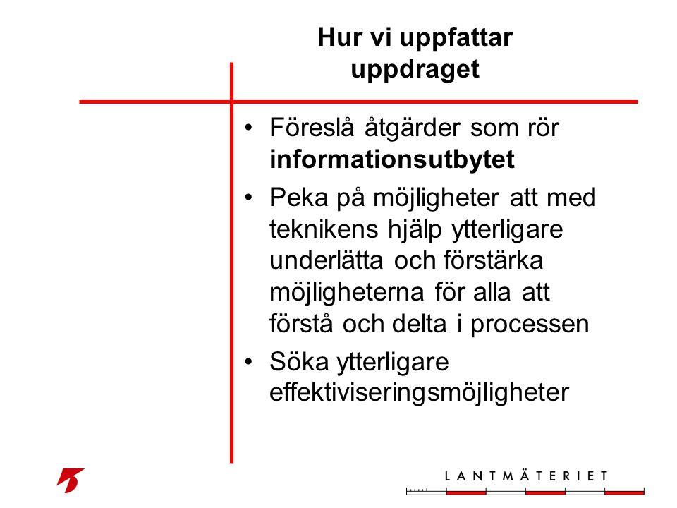 •Föreslå åtgärder som rör informationsutbytet •Peka på möjligheter att med teknikens hjälp ytterligare underlätta och förstärka möjligheterna för alla
