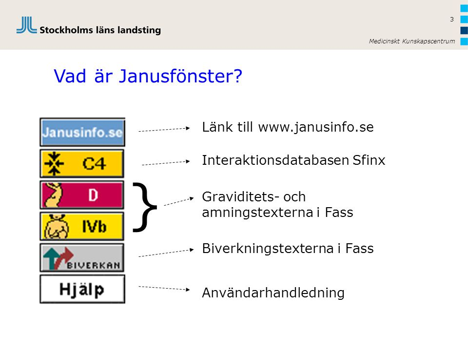 Medicinskt Kunskapscentrum 3 Vad är Janusfönster.