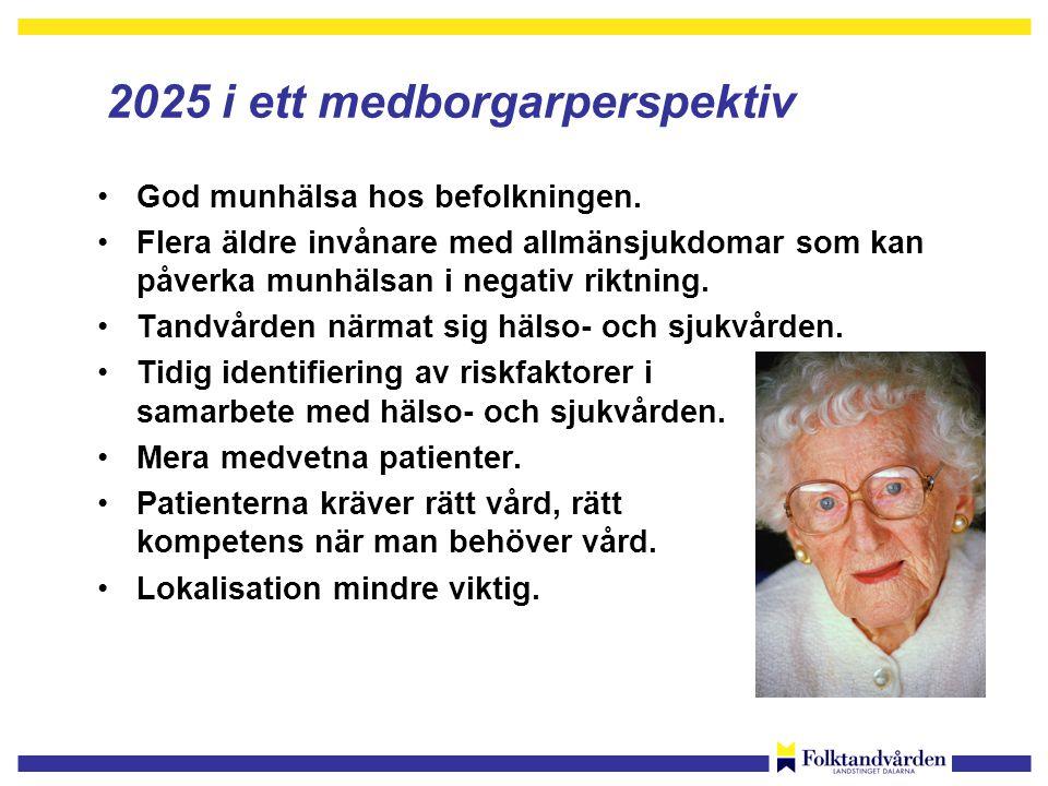 2025 i ett medborgarperspektiv •God munhälsa hos befolkningen.