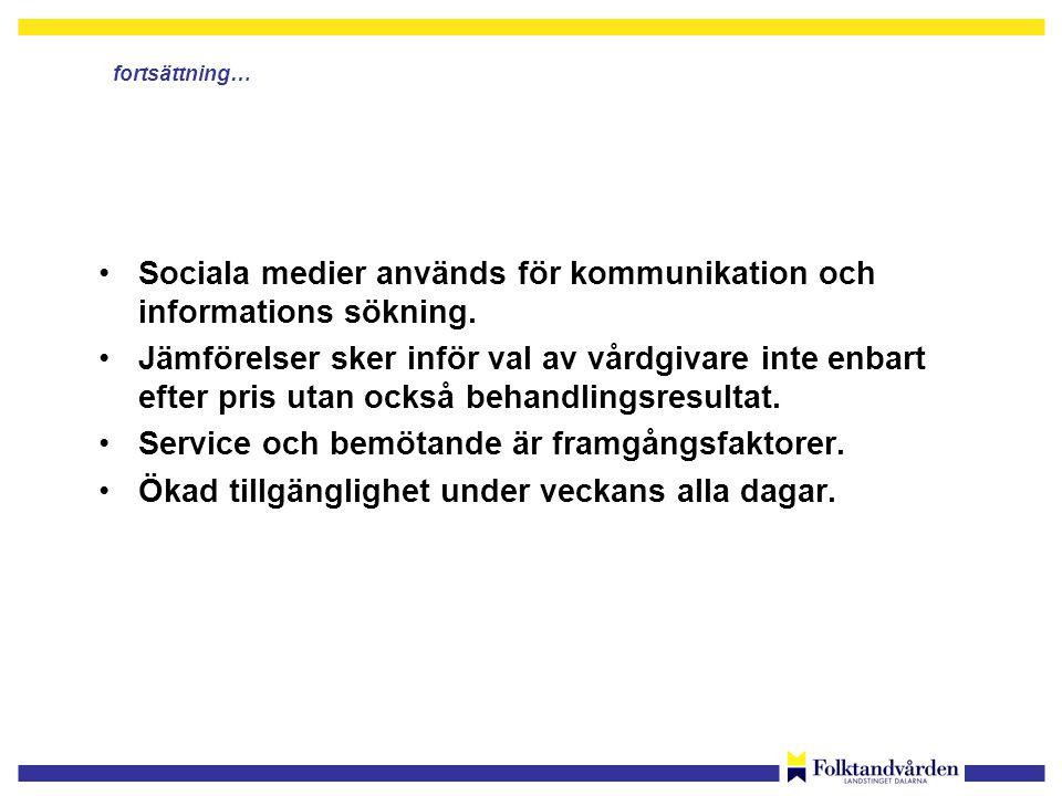 •Sociala medier används för kommunikation och informations sökning.