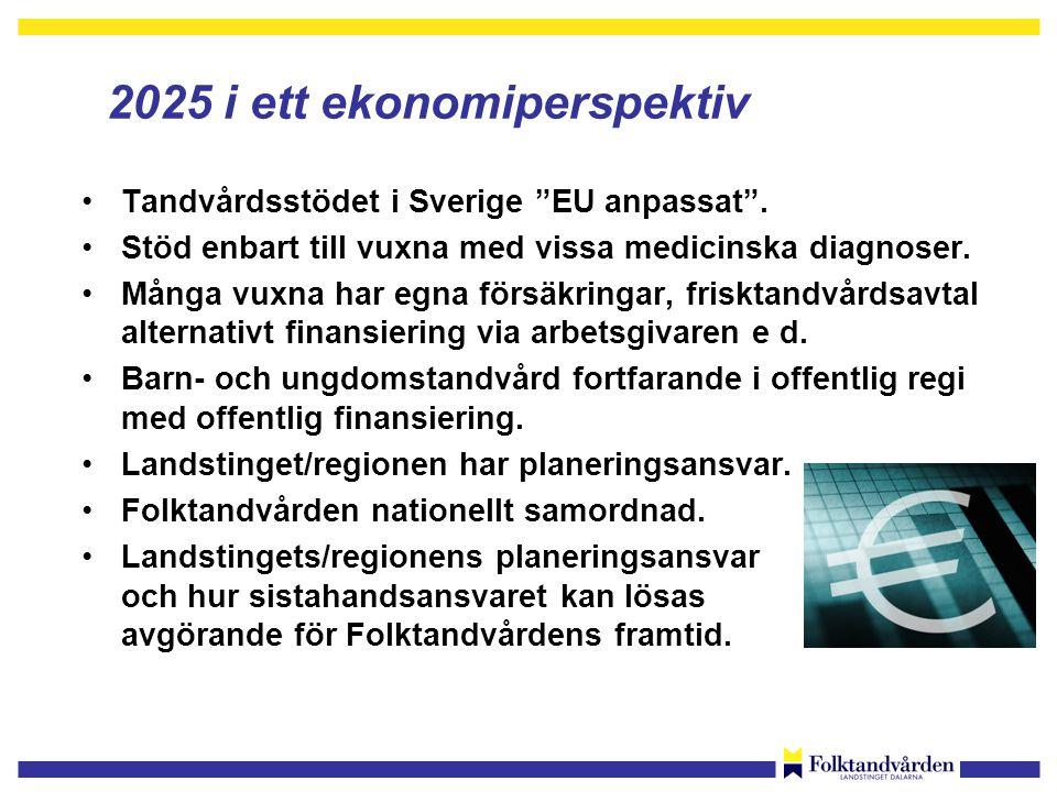 2025 i ett ekonomiperspektiv •Tandvårdsstödet i Sverige EU anpassat .