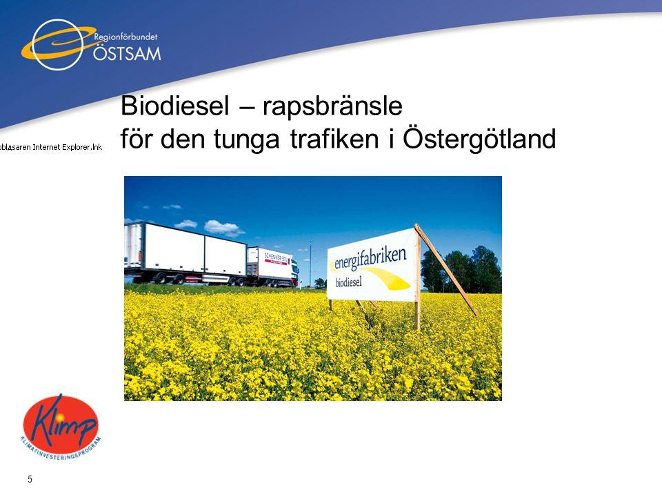 5 Biodiesel – rapsbränsle för den tunga trafiken i Östergötland