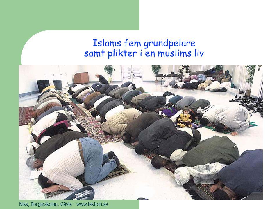 Islams fem grundpelare samt plikter i en muslims liv Nika, Borgarskolan, Gävle - www.lektion.se