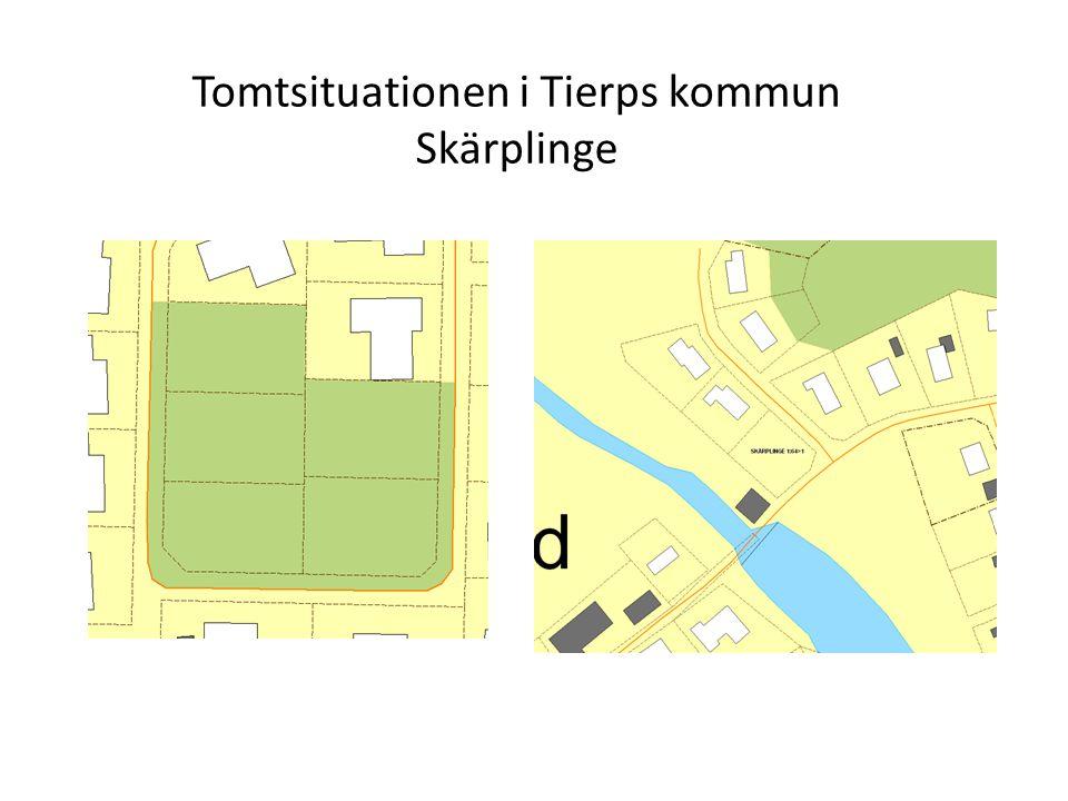 Tomtsituationen i Tierps kommun Skärplinge
