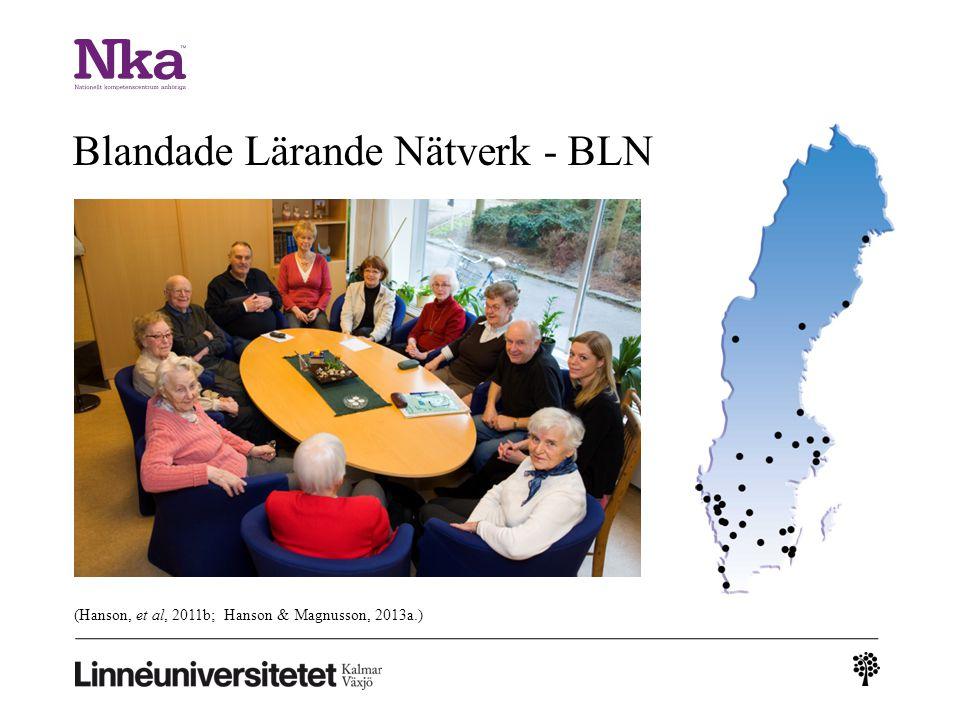 (Hanson, et al, 2011b; Hanson & Magnusson, 2013a.) Blandade Lärande Nätverk - BLN