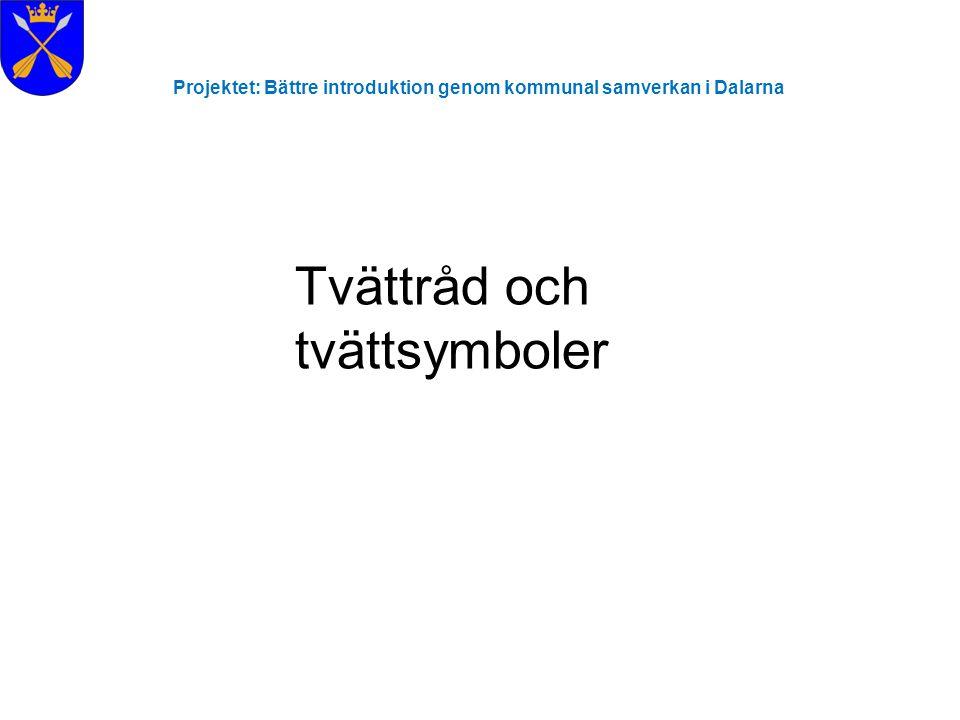 Projektet: Bättre introduktion genom kommunal samverkan i Dalarna Betala med Privatgiro