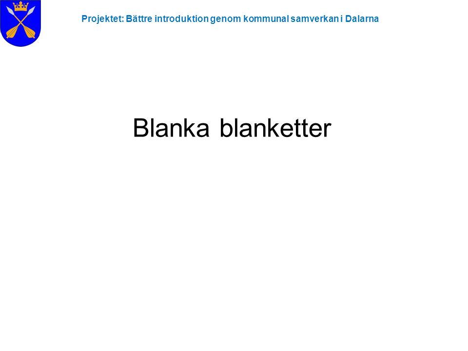 Blanka blanketter