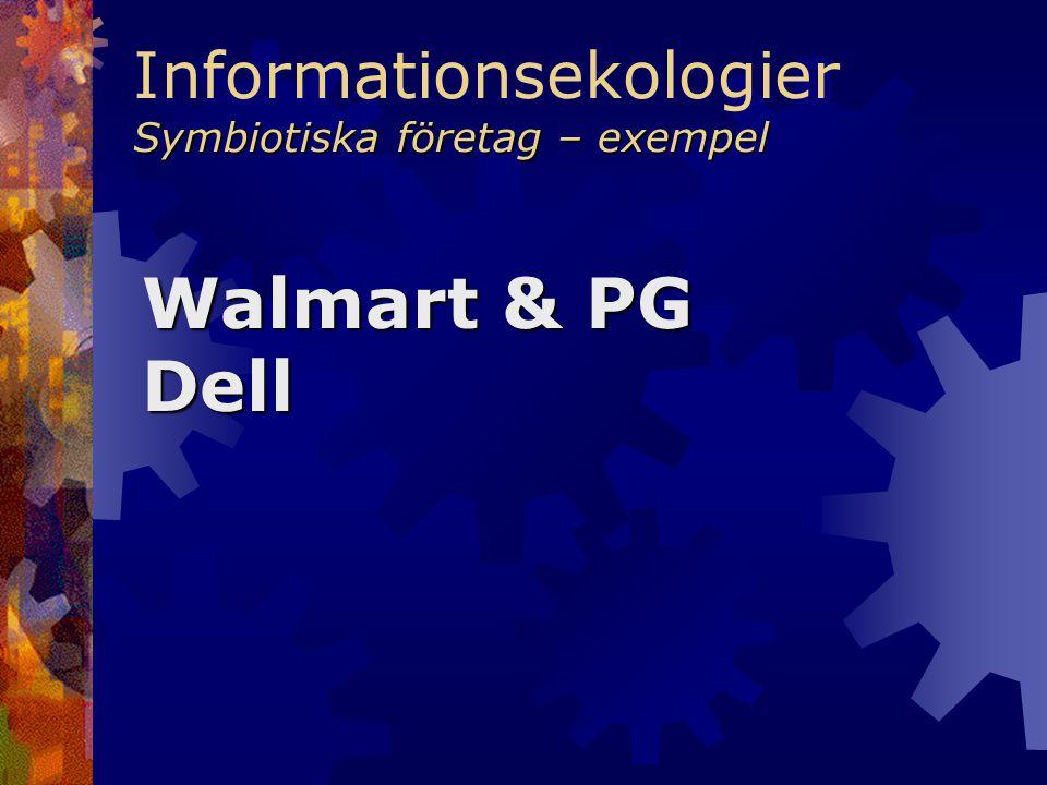 Symbiotiska företag – exempel Informationsekologier Symbiotiska företag – exempel Walmart & PG Dell