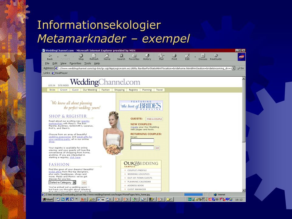 Informationsekologier Metamarknader – exempel