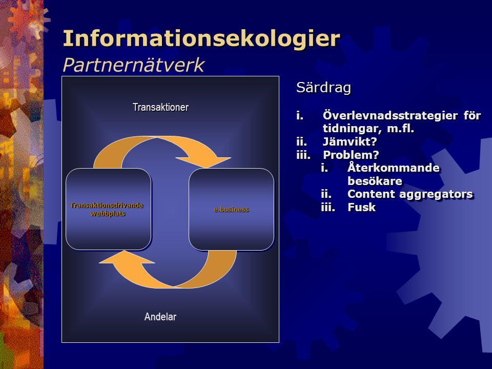 Informationsekologier Informationsekologier Partnernätverk TransaktionsdrivandewebbplatsTransaktionsdrivandewebbplatse.businesse.business Transaktione