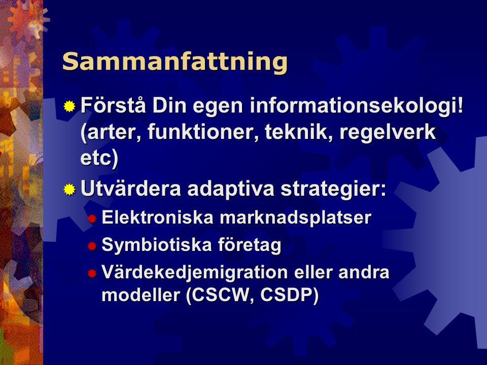 Sammanfattning  Förstå Din egen informationsekologi.