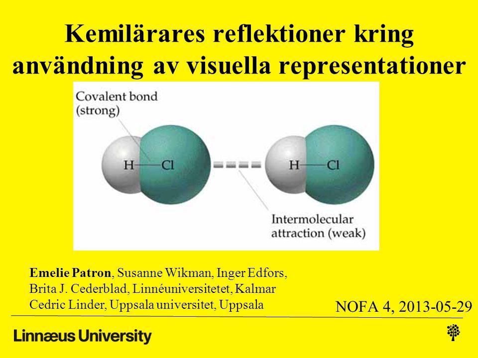 Kemisk bindning •Ett viktigt men svårt område i kemi 1 - Bindningar påverkar ämnenas egenskaper -Många typer av bindningar presenteras: •konvalent bindning, •polär kovalent bindning, •jonbindning, •metallbindning, •vätebindning, •dipol-dipolbindning, •van der Waals-bindning - Samband och skillnader mellan bindningstyperna (ex.