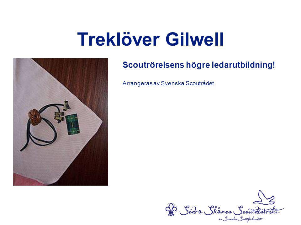 Treklöver Gilwell Scoutrörelsens högre ledarutbildning! Arrangeras av Svenska Scoutrådet
