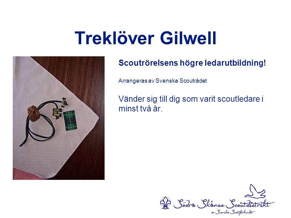 Treklöver Gilwell Scoutrörelsens högre ledarutbildning.