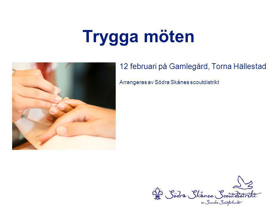 Trygga möten 12 februari på Gamlegård, Torna Hällestad Arrangeras av Södra Skånes scoutdistrikt