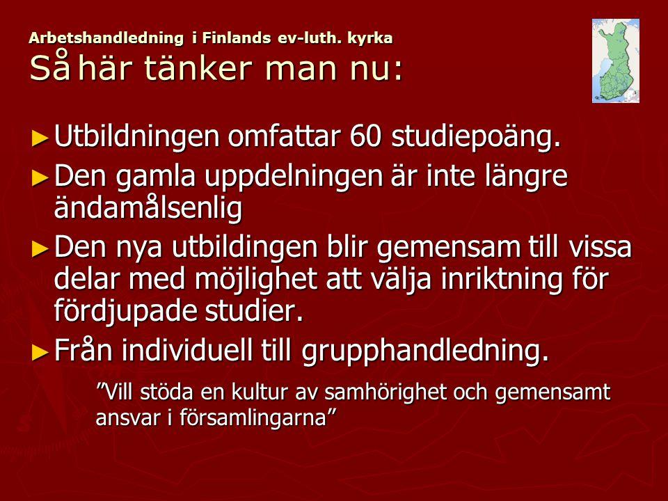 Arbetshandledning i Finlands ev-luth.kyrka ► Många utbildningsproducenter.