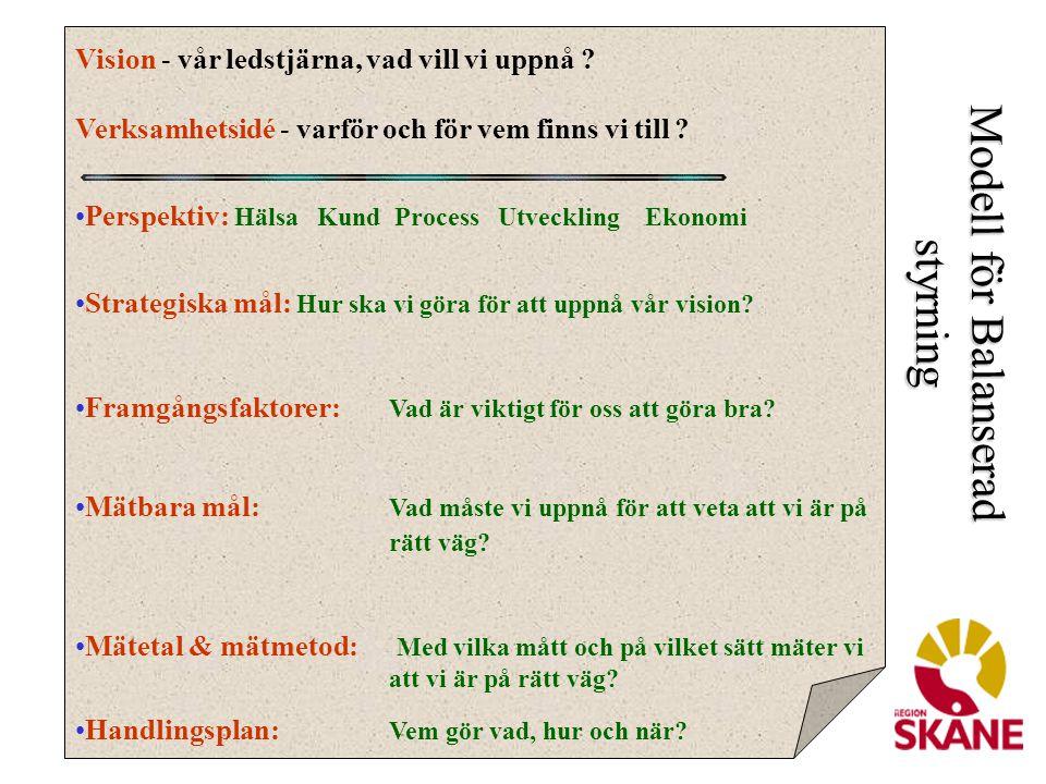 Balans och helhet I Region Skåne finns en tydlig strävan att följa upp verksamheten på ett mångdimensionellt sätt.