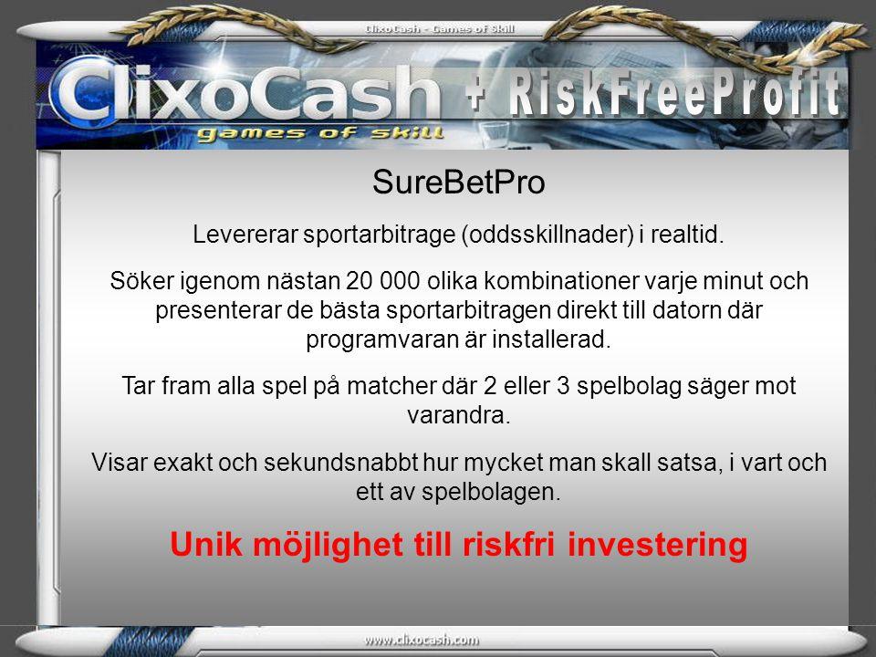 Investering i RiskFreePool RiskFreePool är en pool som förvaltas av professionella Arbitragehandlare.