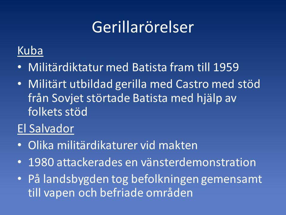 Del 2.Sociala rörelser 1990- Motstånd mot nyliberalism Ursprungs- folkrörelser Bonde- rörelser Ex.