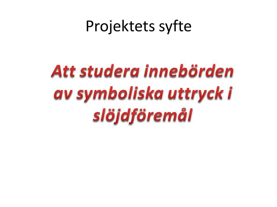 Projektets syfte