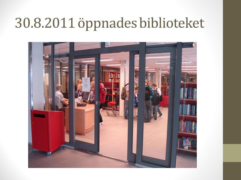 30.8.2011 öppnades biblioteket