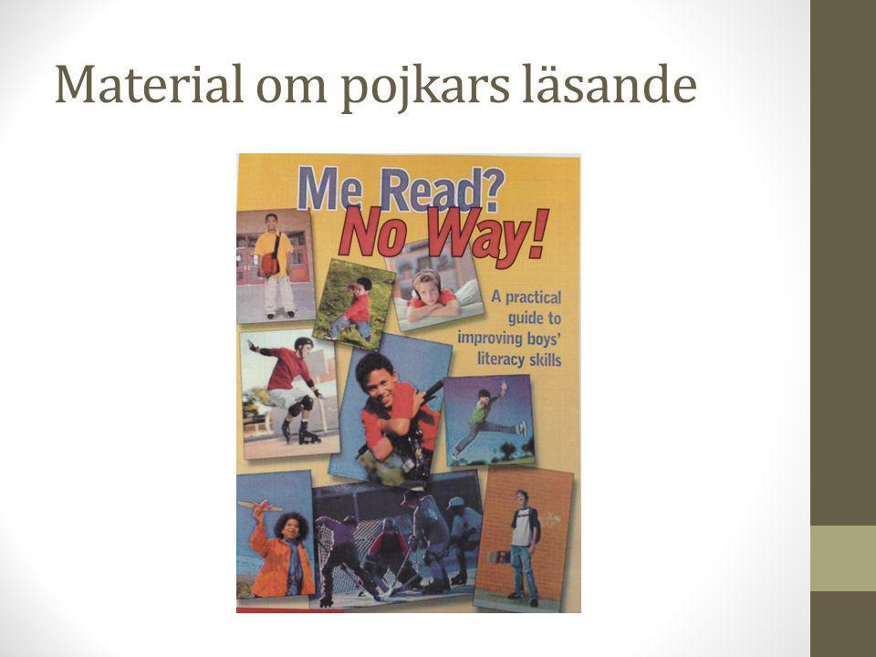 Material om pojkars läsande