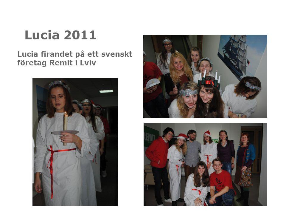Lucia 2011 Lucia firandet på ett svenskt företag Remit i Lviv