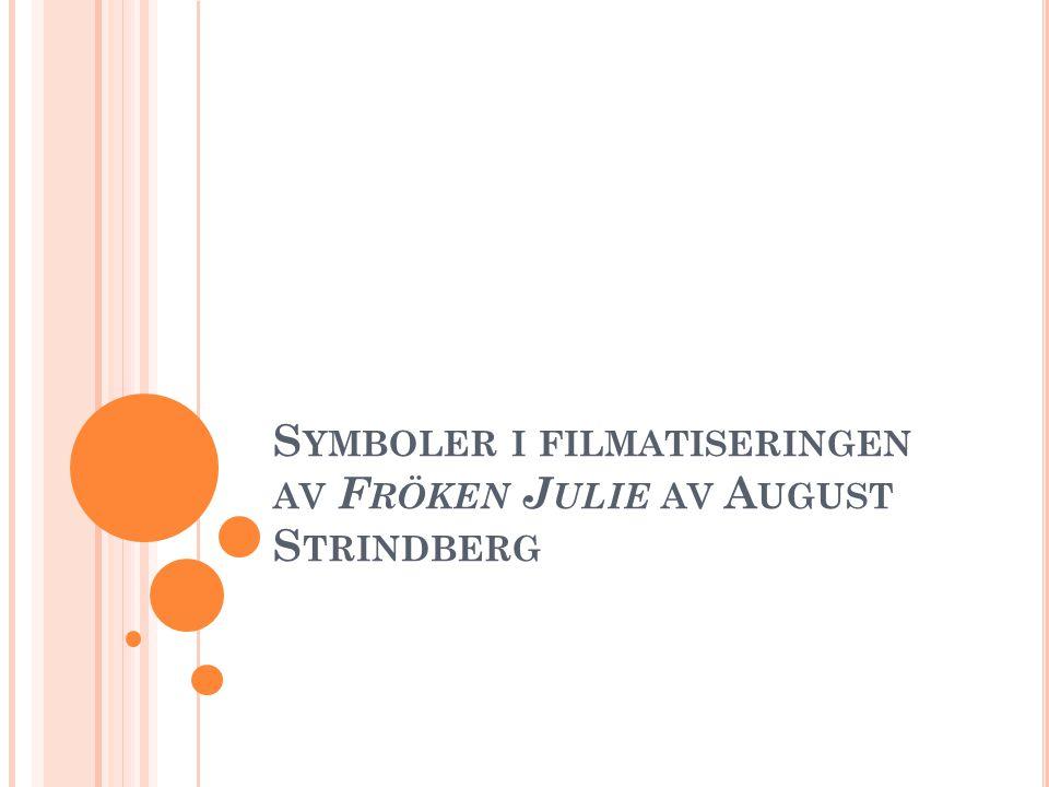 A NSLAG I filmatiseringen av tragedin Fröken Julie finns flera betydelsefulla symboler.