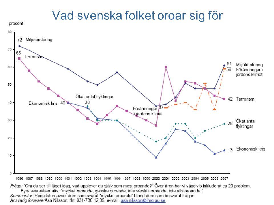 Vad svenska folket oroar sig för