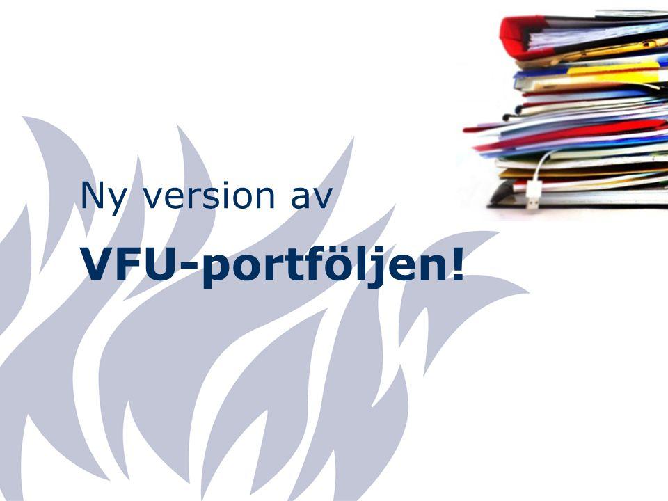 Ny version av VFU-portföljen!