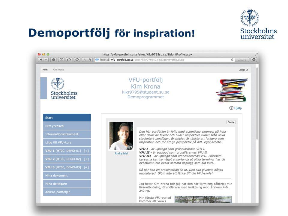 Demoportfölj för inspiration!