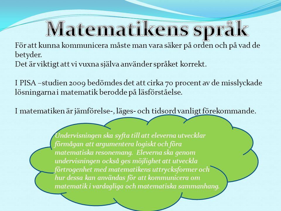 Ett utdrag från Gudrun Malmers bok Bra matematik för alla : Jämförelseord Storlekstorstörrestörst litenmindreminst Antalmångaflerflest fåfärrefärst(minst antal) Kvantitetmycketmermest litemindreminst Massatungtyngretyngst lättlättarelättast Längdhöghögrehögst låglägrelägst