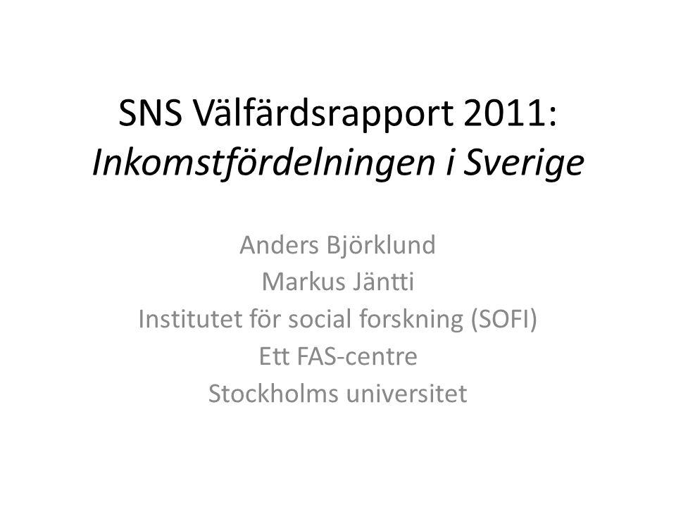 Tolkningar av den nordiska modellen Tolkning 1: Många instrument används och de ger en stor sammanlagd effekt Slutsats: motverka stigande inkomstskillnader genom att välja något som biter utan att förstöra incitamenten: högre barnbidrag (flerbarnstillägg)