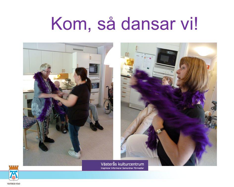 Dans i äldreomsorgen •Inspiration & Workshops •Danspedagogen möter personal och boende i äldreomsorgen •Danspedagogen ger personalen verktyg för att arbeta med de boende