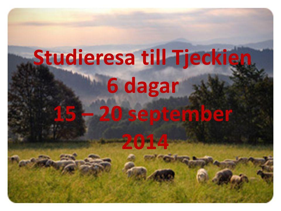 Studieresa till Tjeckien (med stopp i Tyskland) 15 – 2 0 september 2014 Ni är välkomna att delta på en resa till Tjeckien med studiebesök i det Tjeckiska skogarna, besök och guidning i Prag, besök på lantbruksföretag, och någon mera kulturpunkt mm.