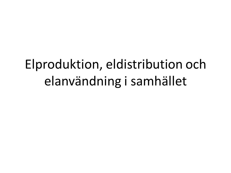 Elproduktion