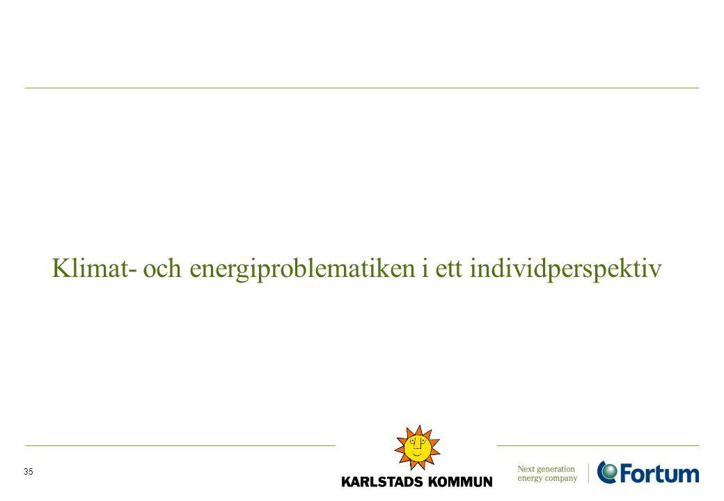 35 Klimat- och energiproblematiken i ett individperspektiv
