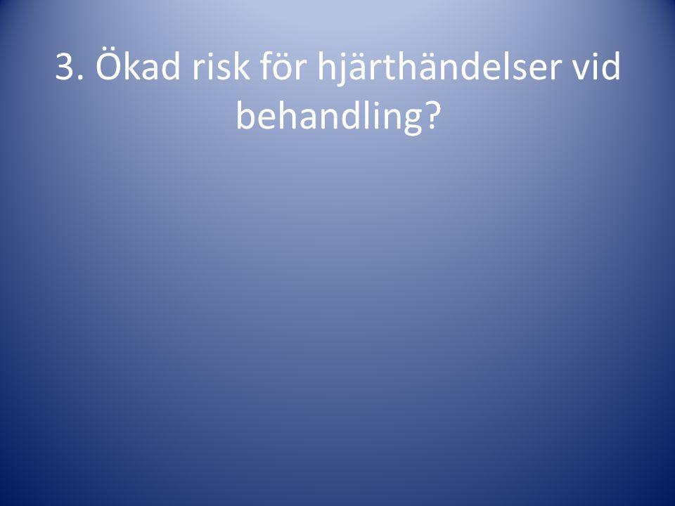 3. Ökad risk för hjärthändelser vid behandling?