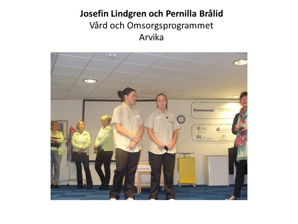 Josefin Lindgren och Pernilla Brålid Vård och Omsorgsprogrammet Arvika