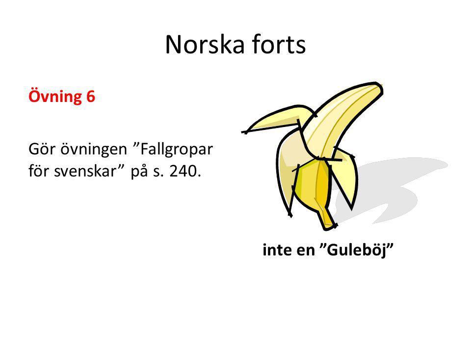 """Norska forts Övning 6 Gör övningen """"Fallgropar för svenskar"""" på s. 240. inte en """"Guleböj"""""""