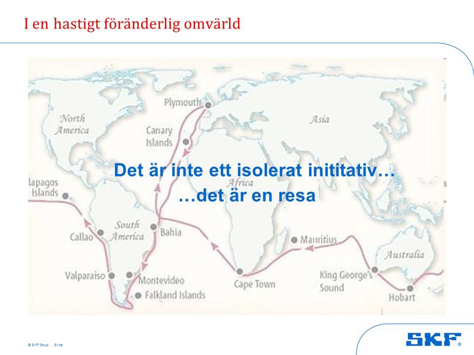 © SKF Group Slide I en hastigt föränderlig omvärld Det är inte ett isolerat inititativ… …det är en resa