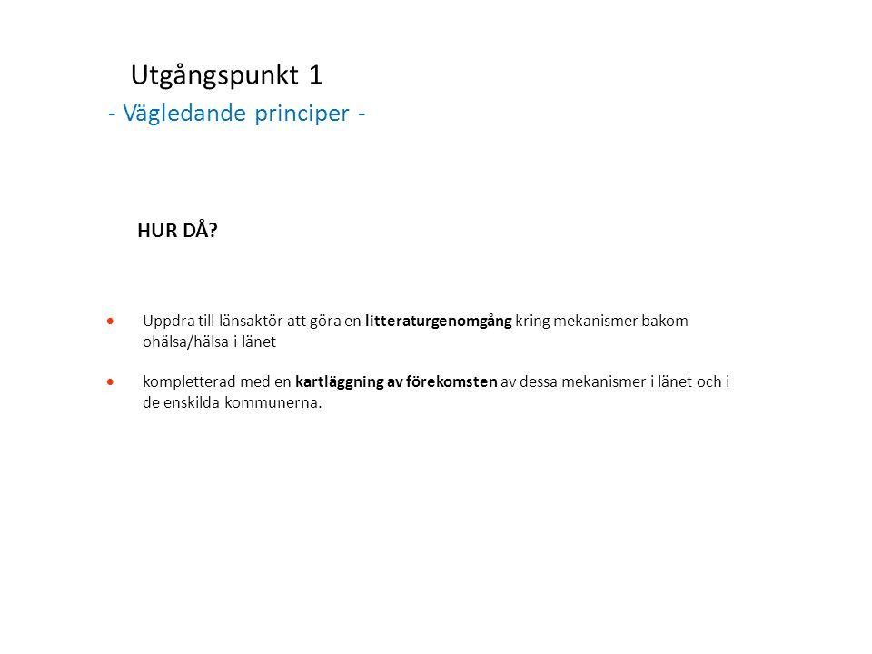 Utgångspunkt 2 - Samverkan, samarbete och samordning – HUR DÅ.